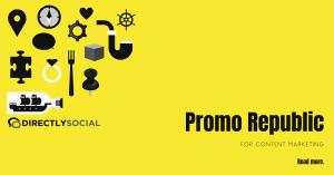 promo republic social media content planning site